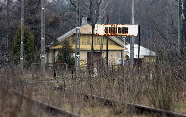 Not the end of the line: Sobibór station in 2009, the time of Demjanjuk's trial