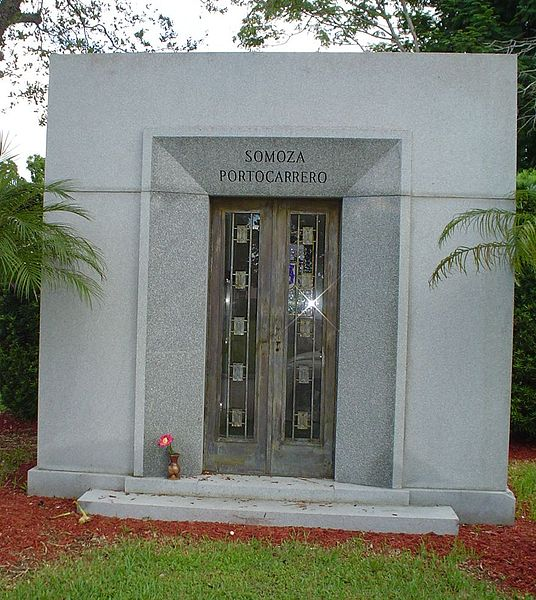 The Somoza family mausoleum