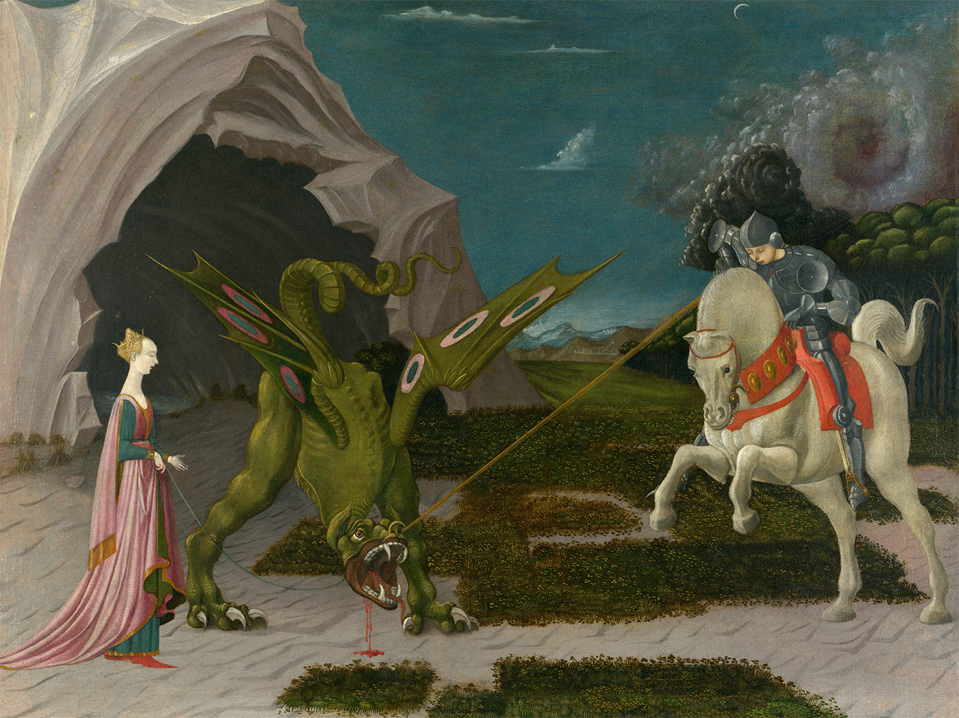 Saint George and the Dragon, by Paolo Uccello, c.1470.