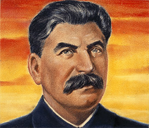 "Propaganda portrait of ""Marshal Stalin"", fromt the Second World War"