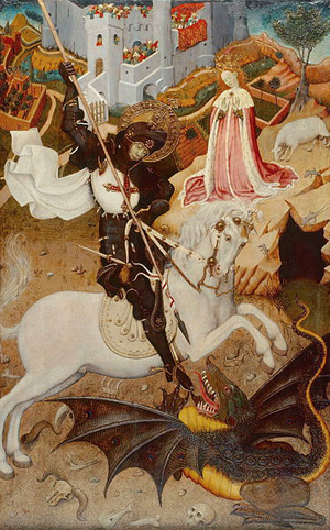 Saint George Killing the Dragon, 1434/35, by Bernat Martorell