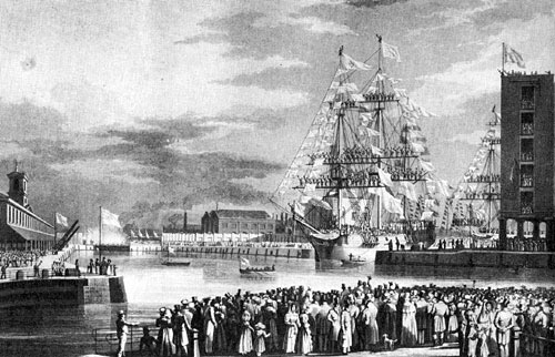 Opening of St Katharine Docks, 25 October 1828