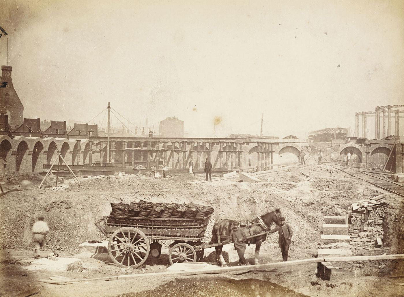 St Pancras station under construction
