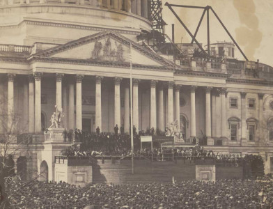 Inauguration of Lincoln, 4 March 1861. Library of Congress.