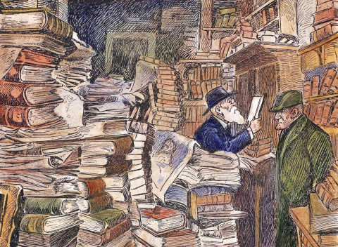 The mild anarchy of piles of second-hand books reminds us of the simple, contingent encounters we have all missed during lockdown. Bookshops are bac