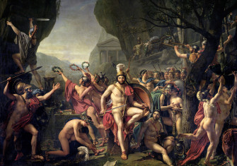 Leonidas at Thermopylae, by Jacques-Louis David, 1812.