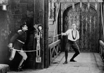 Still from 1913 adaptation of The Prisoner of Zenda with James K. Hackett as Rudolf Rassendyll.