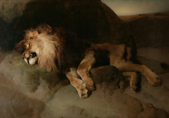 The Desert, or A Fallen Monarch,  by Edwin Landseer, 1849.