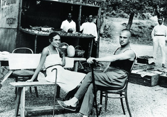 Vladimir Mayakovsky and Lili Brik, sister of the French writer Elsa Triolet, at Yalta in 1926.