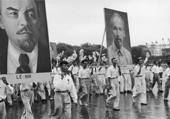 Independence celebration in Hanoi, 1954. Copyright Edouard Boubat/Getty Images