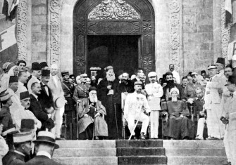 Proclamation of Greater Lebanon in Beirut, 1920.