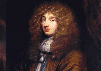 Christiaan Huygens, by Caspar Netscher, 1671.