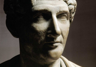 Ovid, first-century marble bust, Uffizi Gallery, Florence.