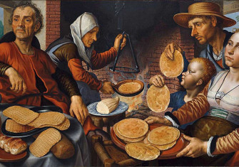 The Pancake Bakery, 1560, by Pieter Aertsen.