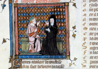 Abelard and Heloise, from the Roman de la Rose, c.1460.