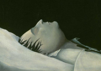 Napoleon on his Deathbed on St Helena, by Denzil O. Ibbetson, 1821.