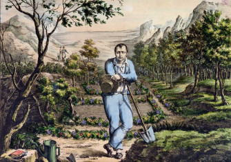The Gardener of St Helena, French, 19th century.