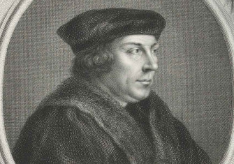 Portrait of Thomas Cromwell (detail), by Jacob Houbraken after Hans Holbein (II), 1737-39. Rijksmuseum.