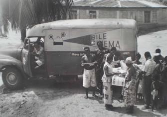 Mobile Cinema Van visits Ghana, 1950s. Information Service Department Photo Library, Ghana.