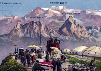 Summit of Rigi-Kulm, Switzerland, c.1900.