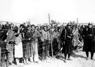 Spanish refugees interned at Argelès-sur-Mer, February 8th, 1939