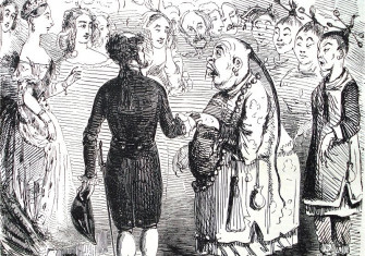 'The Presentation of the Chinese Ambassador' (John Leech, December 17th, 1842)