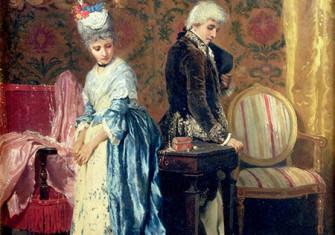 It's not you, it's me: The Lover's Tiff, Paolo Mei, 1872. © Bridgeman Image