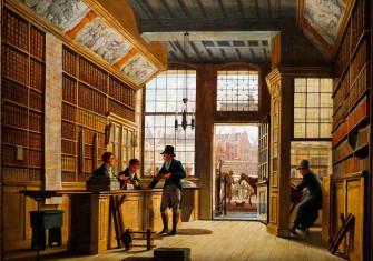 The Bookshop by Johannes Jeigerhuis, 1820