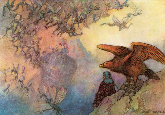 Illustration by Warwick Goble from the Complete Poetical Works of Geoffrey Chaucer, 1912. © Alamy;
