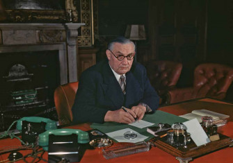 Ernest Bevin as Foreign Secretary, August 1945 © Popperfoto/Getty Images