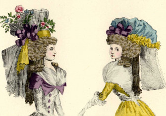 iIlustrations from Fashions and Customs of Marie Antoinette and her Times, by Gustave de Reiset, 1885 © Bridgeman Images.