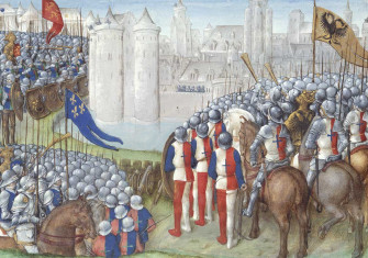 Siege of Damascus during the Second Crusade, 1148. British Library.