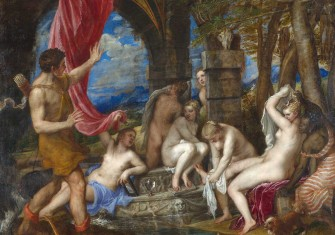 Diana and Actaeon, by Tiziano Vecellio (Titian), 1556-59, National Gallery and National Galleries of Scotland.