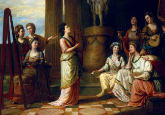 Portraits in the Characters of the Muses in the Temple of Apollo, by Richard Samuel (1778) © National Portrait Gallery, London