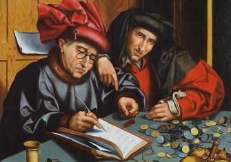 The Money Changers, Marinus van Reymerswaele (follower of), c. 1548. Wiki Commons.