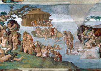 The Flood, by Michelangelo Buonarotti, 1509, Sistine Chapel © Bridgeman Images.