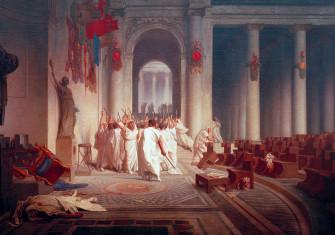 The Death of Caesar, by Jean-Léon Gérôme, 1867 © akg-images