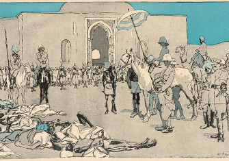 The 1919 Amritsar Massacre depicted in a contemporary illustration. © Chronicle/Alamy