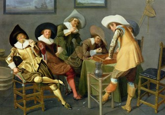 Cavalier attitudes: Royalists in a tavern, by Dirck Hals, 17th century © Johnny van Haeften / Bridgeman Images.