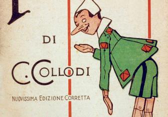 Cover of Pinocchio, by Carlo Collodi, illustration by Attilio Mussino, 1934 © Bridgeman Images.