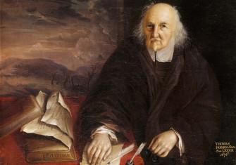 The philosopher Thomas Hobbes in 1676 Hardwick Hall, Derbyshire. English, 17th century.