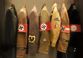 Nazi uniforms at the Deutsches Historisches Museum, Berlin. Wiki Commons / Richard Mortel.