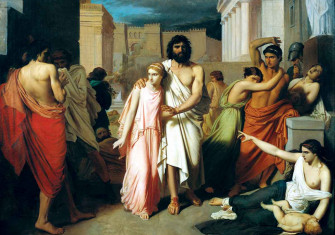 Oedipus and Antigone, or the Plague of Thebes, by Charles Jalabert, 1843, Musée des Beaux-Arts, Marseille © Bridgeman Images