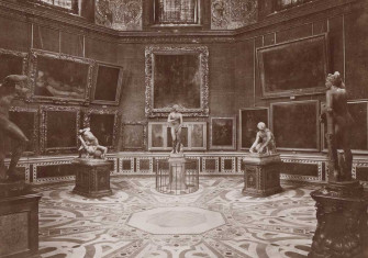 Interieur van de Tribuna van de Uffizi in Florence, anonymous, c. 1870 - c. 1890. Rijksmuseum.