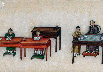 A Chinese teacher. Painting by a Chinese artist, ca. 1850. Wellcome Collection.