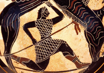 Black figure kylix attributed to the Boreads Painter, Sparta, sixth century BC © Getty Images.