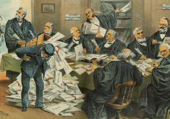 'Our Overworked Supreme Court', 1885, J. Keppler. Library of Congress.