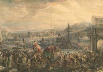 The Triumph of Pompey, Gabriel de Saint-Aubin. Watercolour, c.1765. Metropolitan Museum of Art/Wiki Commons.