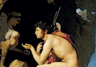 Oedipus and the Sphinx by Jean Auguste Dominique Ingres, 1808 © Bridgeman Images.