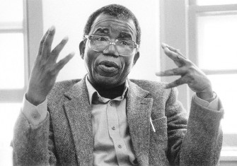Chinua Achebe at the University of Massachusetts in Amherst, 1970s